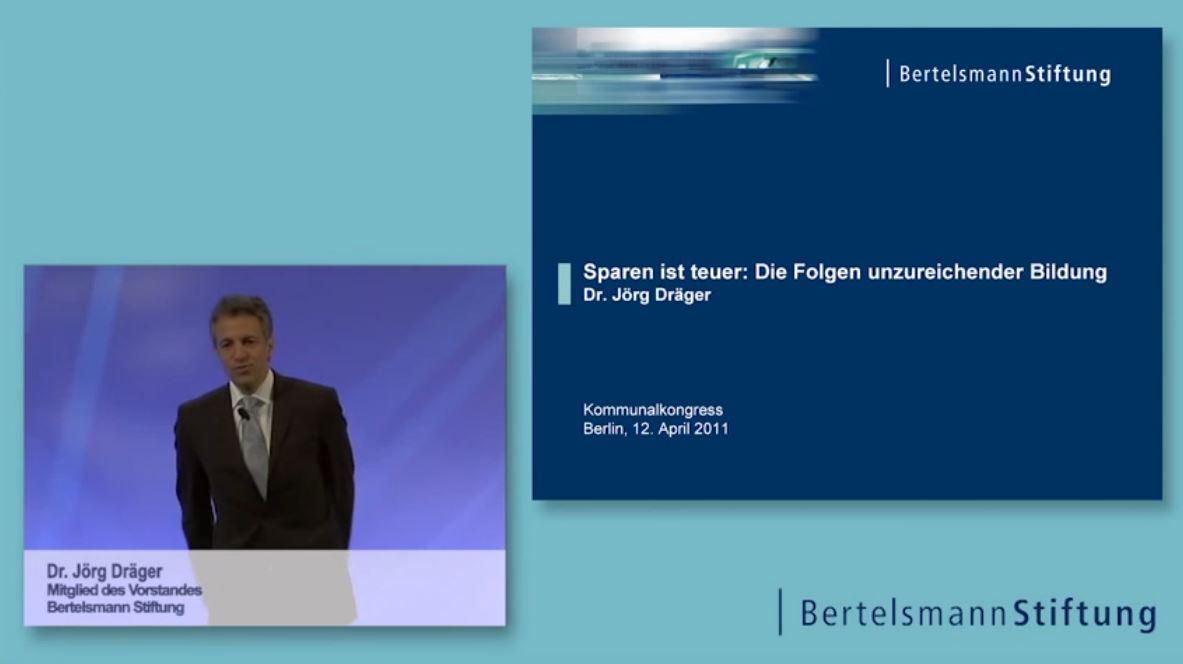 Vortrag Dr. Jörg Dräger - Bertelsmann Stiftung